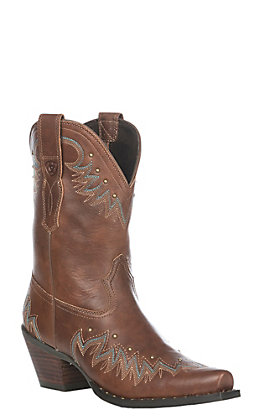 Ariat Women's Antique Nutmeg Potrero Western Snip Toe Boot