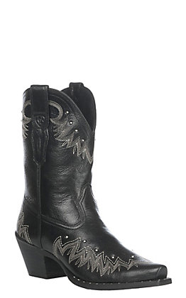 Ariat Women's Jackal Black Potrero Western Snip Toe Boot