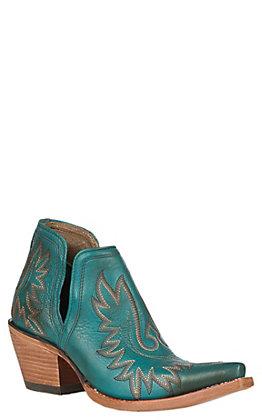 Ariat Women's Dixon Agate Green Snip Toe Western Booties