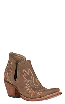 Ariat Women's Dixon Weathered Brown Western Booties