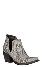Ariat Women's Dixon White Crackle Snip Toe Western Booties