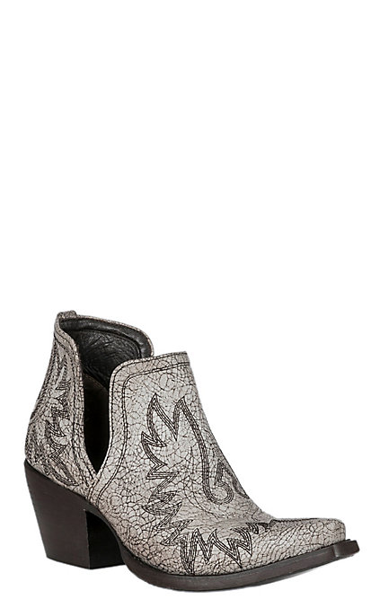 baby online highly praised Ariat Dixon Women's Blanco White Crackle Western Booties