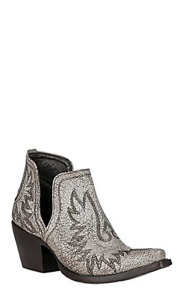 Ariat Dixon Women's Blanco White Crackle Western Booties