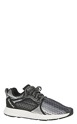 Ariat Women's Fuse Black and Grey Mesh Round Toe Casual Shoes
