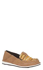 07a3ab59eb7 Ariat Women s Tan and Mustard Navajo Cruiser Casual Shoe