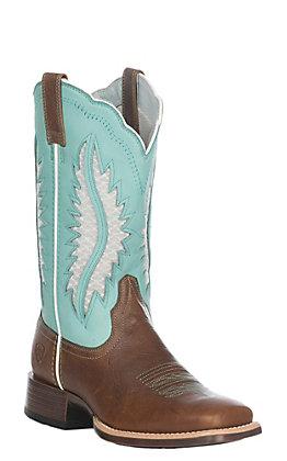Ariat Women's Brown Patina Solana VentTEK Western Square Toe Boot