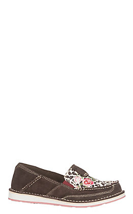 Ariat Cruiser Women's Chocolate Suede & Leopard Rose Casual Shoes
