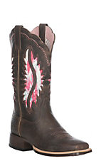 Ariat Women's French Roast Solana VentTEK Western Square Toe Boot