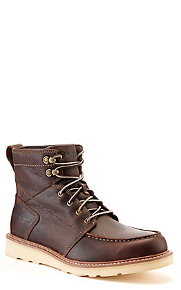Ariat Men's Recon Brewed Barley Brown Round Toe Lace Up Boots