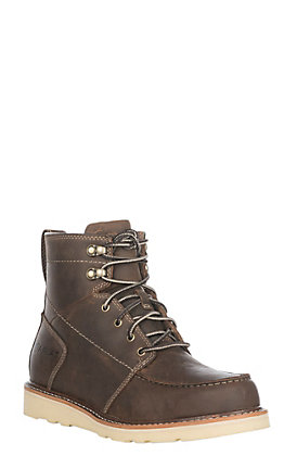 Ariat Men's Distressed Brown Recon Lace Round Toe Boot