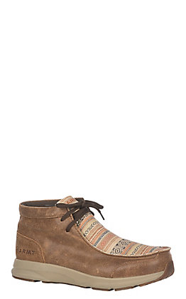 Ariat Men's Brown and Serape Spitfire Moc Casual Shoe