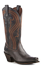 Ariat Lively Women's Old West Brown Punchy Punchy Toe Western Boots