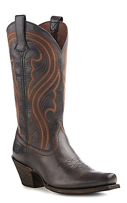 Ariat Women's Lively Old West Brown Punchy Toe Western Boots
