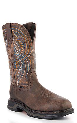 Ariat Men's WorkHog XT Coil Woodsmoke Chocolate Square Carbon Toe Work Boot