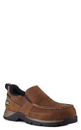 Ariat Men's Edge LTE Dark Brown Round Composite Toe Slip On Work Boot