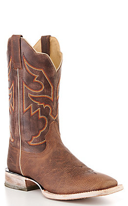 Ariat Men's Night Sorting Toffee Brown Wide Square Toe Western Boot