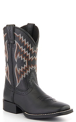 Ariat Kids Black Tycoon Western Square Toe Boot