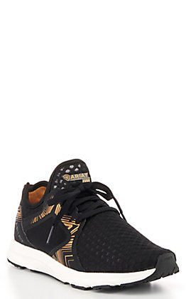 Ariat Women's Black with Gold Print Fuse Casual Shoes