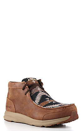 Ariat Men's Brown and Navy Aztec  Spitfire  Moc Casual Shoe