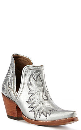 Ariat Dixon Women's Metallic Silver Western Booties