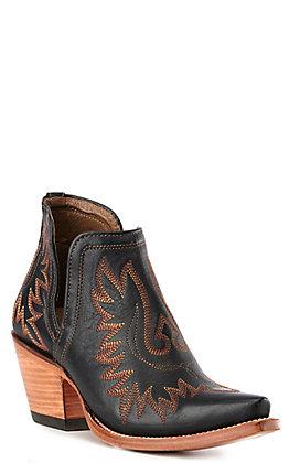 Ariat Women's Dixon Black Snip Toe Western Booties