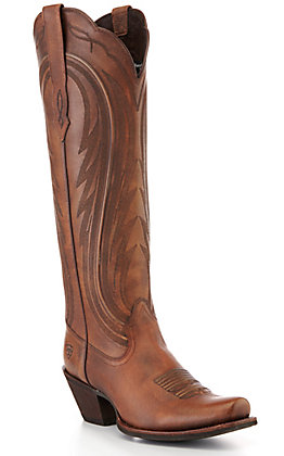 Ariat Women's Abilene Copper Brown Punchy Toe Western Boots