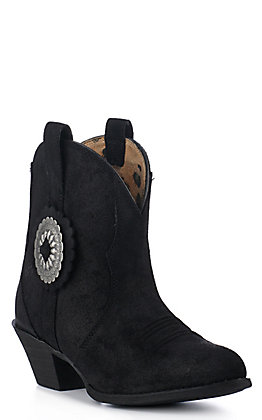 Ariat Women's Cantina Black Suede R-Toe Fashion Booties