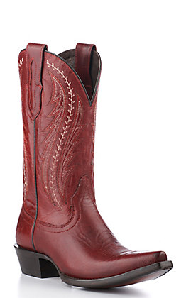 Ariat Women's Tailgate Red Snip Toe Western Boots