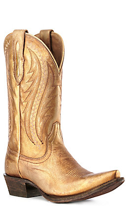 Ariat Women's Tailgate Distressed Gold Snip Toe Western Boots