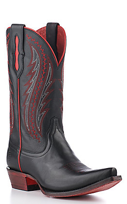 Ariat Women's Tailgate Black and Red Snip Toe Western Boots