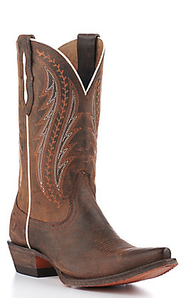 Ariat Women's Tailgate Weathered Rust Snip Toe Western Boots