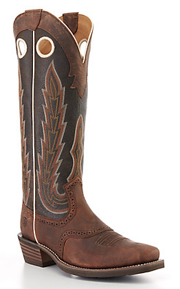 Ariat Men's Heritage Buckaroo Chocolate Wide Square Toe Western Boot