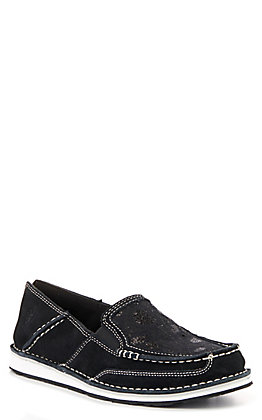 Ariat Women's Cruiser Black Suede with Sequin Top Casual Shoes