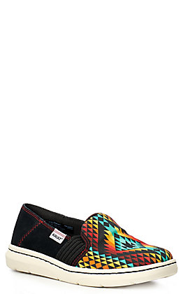 Ariat Women's Ryder Black and Rainbow Aztec Casual Shoes
