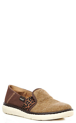 Ariat Ryder Women's Tan Burlap and Brown Casual Shoes