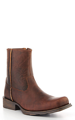 Ariat Men's Rambler Ultra Contemporary Weathered Cognac Square Toe Boot