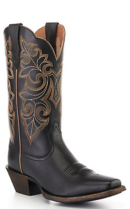 Ariat Women's Black Round Up Punchy Square Toe Western Boots