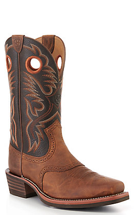 Ariat Men's Sorrel & Brooklyn Brown Roughstock Square Toe Western Boots