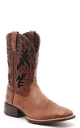 Ariat Men's Sport Cool Dark Tan VentTEK Wide Square Toe Western Boot