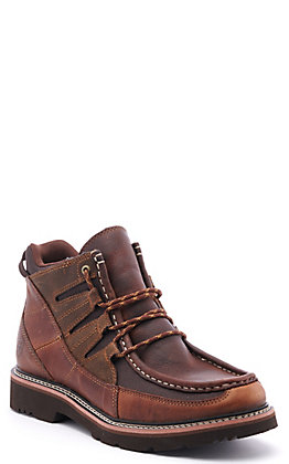 Ariat Men's Exhibitor Peanut Brown Moc Toe Lace Up Casual Shoe