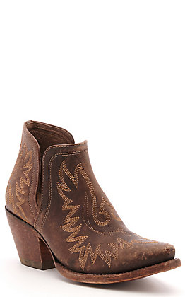 Ariat Women's Dixon Distressed Brown Snip Toe Western Booties