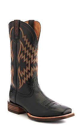 Ariat Men's Tycoon Black Wide Square Toe Western Boots - Cavender's Exclusive