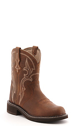 Ariat Women's Fatbaby Gingersnap Brown Heritage Triad Round Toe Western Boot