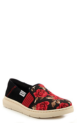 Ariat Women's Ryder Black Vintage Rose Print Casual Shoes