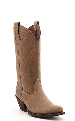 Ariat Women's Lively Brown Bomber Square Toe Western Boots
