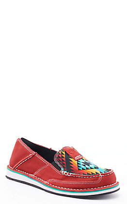 Ariat Women's Cruiser Ruby Suede and Black Serape Casual Shoes