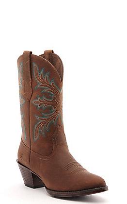 Ariat Women's Runaway Brown R-Toe Western Boot