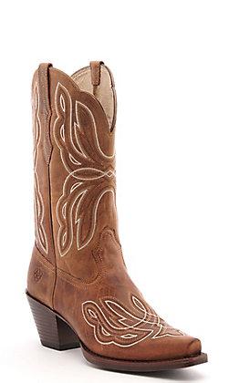 Ariat Women's Mirabelle Honey Tan Snip Toe Western Boots