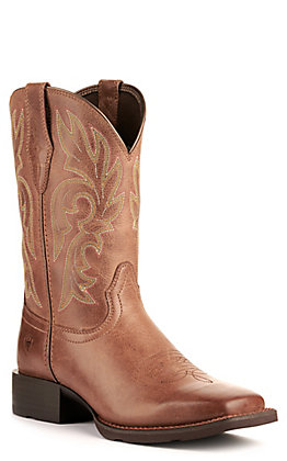 Ariat Women's Cattle Drive Dusty Brown Wide Square Toe Western Boot