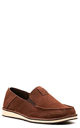 Ariat Men's Cruiser Distressed Brown Moc Toe Casual Shoe
